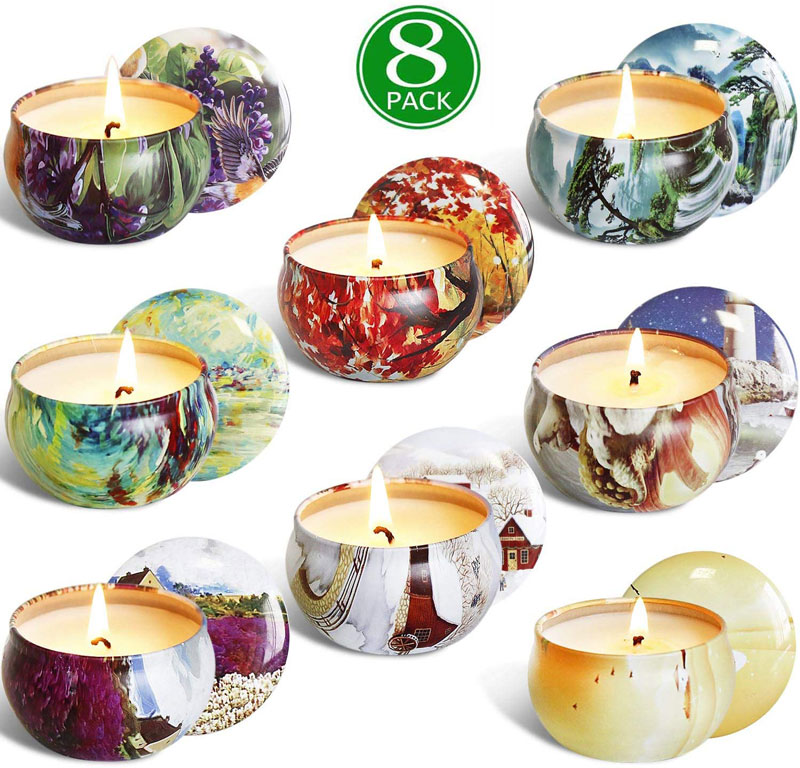 8 Pack Scented Candles